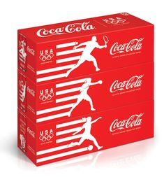 Coca-Cola introduces 6 limited edition cans to cheer on Team USA at the London 2012 Olympic Games.