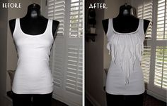 She has amazing ideas! Love the beading, but might try this any change up the ruffles
