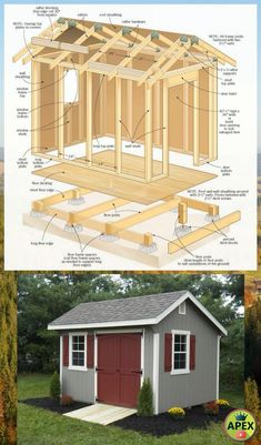 ✅🏠 shed plans! Start building amazing sheds the easier way, with a collection of shed plans! Shed Building Plans, Diy Shed Plans, Backyard Sheds, Outdoor Sheds, Backyard Landscaping, Log Cabin Sheds, Shed Builders, Shed To Tiny House, Sheds For Sale