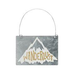 Wanderlust - Tin Ornament -