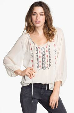 Sanctuary Embroidered Peasant Top available at #Nordstrom