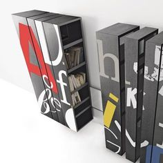 Bibliothèque « Barcode a Muro » chez Bross Italy