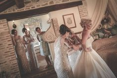 The preparation of the bride is amazing in our wedding suite!!