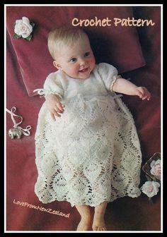 PDF Crochet pattern / Vintage Baby Crochet von LoveFromNewZealand