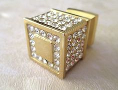 Rhinestone Glass Knobs Crystal Knob Drawer Knobs by LynnsHardware