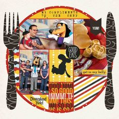 Goofy's Kitchen by monstermama. Unique and fun Disney scrapbook layout from Mouse Scrappers