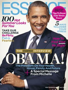 President Obama Graces the July Cover of ESSENCE