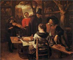 Jan Havickszoon Steen (Leiden 1626 – Leiden 1679)   Meal  1650