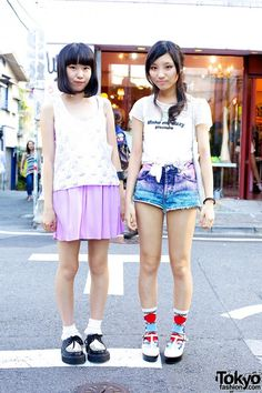 Japanese street fashion in Harajuku