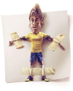 Caricaturas Cracks by German Alvarado, via Behance Neymar, X Games, Fifa World Cup, Soccer Players, Cool Art, Behance, Statue, Art Prints, Fictional Characters