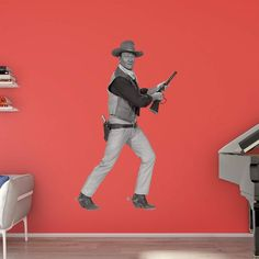 Fathead John Wayne in Action Wall Decal - 1108-00001