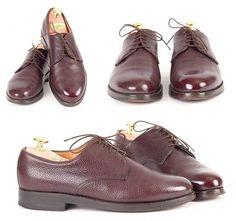 Schuhe aus Scotchgrain mit Wasserglanzpolitur