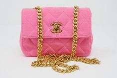 2e14ae7b6932 Vintage Chanel pink mini bag at Rice and Beans Vintage Vintage Chanel Bag, Chanel  Pink