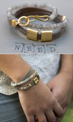 Love Bracelet, Dainty Love bracelet, Romantic jewelry for women, romantic love jewelry, labradorite grey and gold bracelet love by Ofralerner on Etsy https://www.etsy.com/listing/218318220/love-bracelet-dainty-love-bracelet