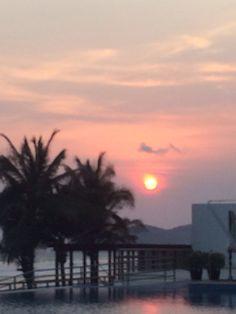 Un atardecer en Acapulco