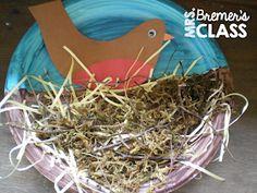 Spring bird art lesson for Kindergarten