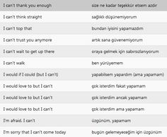 Turkish: I can't... -6