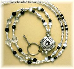 Mom Jewelry, Jewelry Ideas, Beaded Jewelry, Jewelery, Unique Jewelry, Lanyard Designs, Beaded Lanyards, Id Badge Holders, Wine Charms