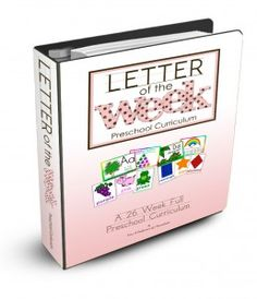 Letter of the Week Curriculum- The Letter of the Week is a full 26 week preschool course designed to give your student a head-start on preparing for kindergarten! It is a 26 week curriculum. LOVE BUT HAVE TO BUY Preschool Letters, Free Preschool, Preschool Printables, Preschool Lessons, Learning Letters, Alphabet Activities, Preschool Classroom, Preschool Learning, Preschool Activities
