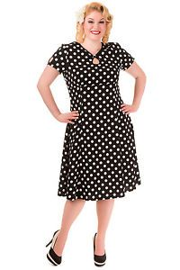Plus Size Vintage Polka Dot Dresses | Plus Size Red & Black Polka ...