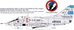Argentine Navy A-4Q Skyhawk  Falklands War 1982