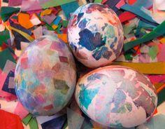 DIY easter crafts DIY Bleeding Tissue Easter Eggs DIY easter crafts