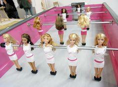 chloe ruchon: 'barbie foot' at DMY berlin design festival 09 Bad Barbie, Barbie Dolls, Pink Barbie, Recycled Toys, Berlin Design, Table Football, Girl Cave, Woman Cave, Baby Foot