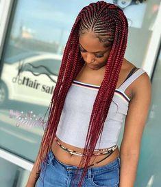 Half Cornrows, Cornrows Braids For Black Women, Braided Cornrow Hairstyles, Black Girl Braids, Braided Hairstyles For Black Women, African Braids Hairstyles, Braids For Black Hair, Ponytail Hairstyles, Black Braided Updo