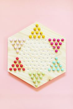 DIY Chinese Checkers Game on Lovely Indeed @lovelyindeed