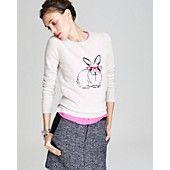 Aqua Cashmere Sweater - Bunny Crewneck