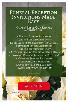 39 best funeral reception invitations bereavement pinterest 39 best funeral reception invitations bereavement pinterest reception invitations and funeral stopboris Images