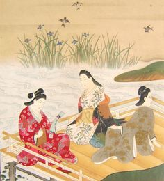 Vintage Japanese Print A Beauty Enjoying the Cool Breeze by VintageFromJapan, $12.00