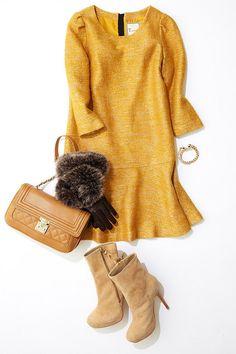 ルミネ北千住のアイテムで「知的ワンピースでつくるパーティファッション」を提案。イエローとツイードを味方につければ、モテ度アップは確実!? 人気スタイリスト村山佳世子さんがみなさんのおしゃれのお悩みを、リアルな目線で解決します。 One Piece, Women's Fashion, My Favorite Things, Elegant, Polyvore, Projects, Sweaters, Outfits, Clothes