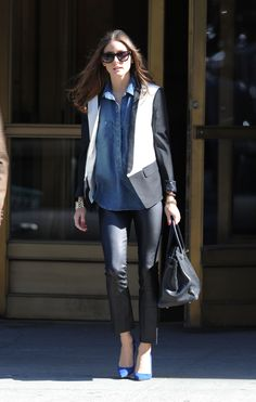 Tuxedos aren't just for evenings. Olivia Palermo in the Tibi Tuxedo Jacket