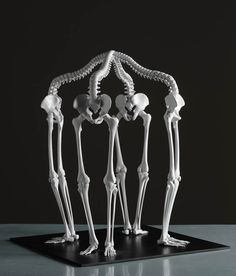 Monika Horčicová's Cyclical 3D-Printed Skeletal Sculptures Pair Mortality And Infinity