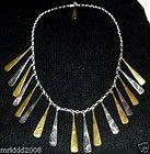 """ROBERT LEE MORRIS TRIBAL FRINGE NECKLACE STERLING, BRASS, COPPER 18"""" + RLM - Designer Jewelry Galleria"""