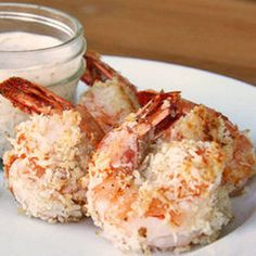 Healthy Holiday Hors D'oeuvre: Baked Coconut Shrimp