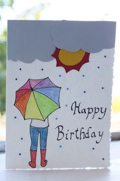 Sun and Rain Birthday Card