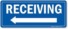 """Receiving (with Left Arrow), Adhesive Signs and Labels, 10"""" x 4"""" MySafetySign http://www.amazon.com/dp/B0089P0P94/ref=cm_sw_r_pi_dp_J-g6vb1JWRK1V"""