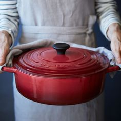 This contrasting color may look good with my Ocean pieces. Both colors are in my Chinois and PALAZZO pattern dinnerware. - Le Creuset® Signature Burgundy Round Wide French Oven, 6¾ qt.   Sur La Table