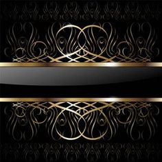 ornate vip gold background art Black And Gold Party in