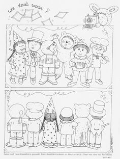 thema carnaval - Google zoeken Circus Crafts, Carnival Crafts, Free Coloring, Coloring Pages For Kids, Halloween Girlande, Visual Perception Activities, Art For Kids, Crafts For Kids, Hidden Pictures
