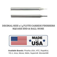 """NEW TiN Hertel 1//2/"""" X 4/"""" USA 4 flute solid carbide single end square end mill"""