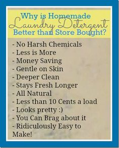 Need to buy the ingredients! hate spending money on things like detergent?! Best Laundry Detergent Recipe «