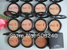 Brand MC Makeup Studio Fix Powder cake Plus Foundation, compact foundat, face powder + puffs , 15g