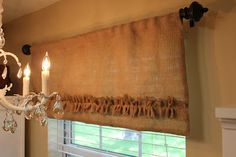 Love this curtain from the Applique Market blog.....this is an awesome sewing room redo too:0)...I wish mine looked like this:0)