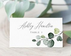 DEPOSIT Calligraphy Placecards Modern Calligraphy Tented Placecard v2 Place Setting Cards Wedding Reception Table Settings