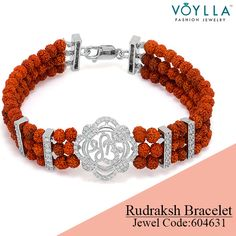 Bring out the devotee in you with this rudraksha bracelet. Shop here: http://www.voylla.com/products/sterling-silver-rudraksh-bracelet-featuring-om-and-shree-design Jewel Code: 604631 #alwaysbeautiful #jewelry #voylla