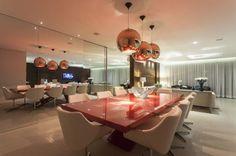 Decoração de Salas de Jantar com Pendentes Cobre! Super Tendência!