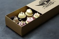 Each Box Holds 12 Cakes Clear Window White Cheapest Price From Our Site Enthusiastic 25 X Blue Gingham Cupcake Boxes Kitchen, Dining & Bar